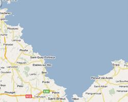 seaside map Goëlo Coast