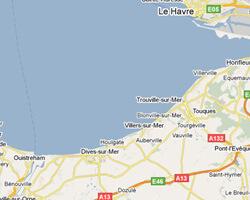 carte littoral Côte Fleurie
