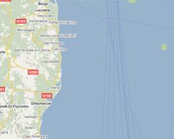 image map Korsika Ost-Küste