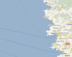 carte littoral Corse côte ouest
