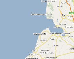 seaside map Picardy Coast