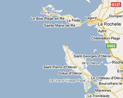 seaside map La Rochelle coast