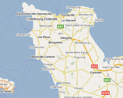 carte littoral Cotentin