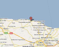 carte littoral Courseulles-sur-Mer