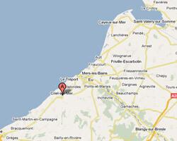 seaside map Criel-sur-Mer