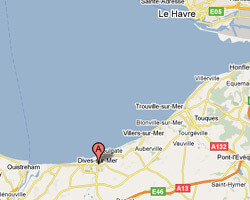 seaside map Dives-sur-Mer