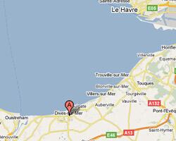 seaside map Dives-sur-Mer