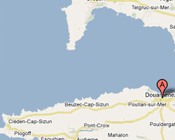 carte littoral douarnenez