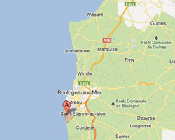 carte littoral Equihen-Plage
