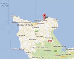 seaside map Fermanville