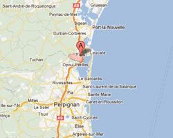 seaside map Fitou