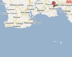 seaside map Fouesnant Cap-Coz