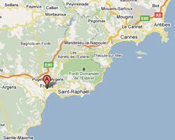carte littoral Fréjus Saint-Aygulf