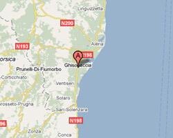 seaside map Ghisonaccia