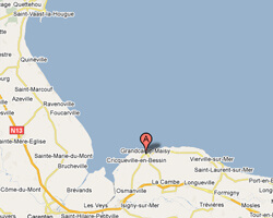 seaside map Grandcamp-Maisy