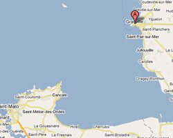 carte littoral Granville