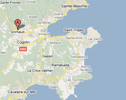 carte littoral Grimaud