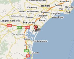 seaside map Gruissan