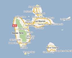 carte littoral guadeloupe