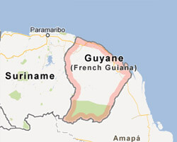 seaside map French Guiana