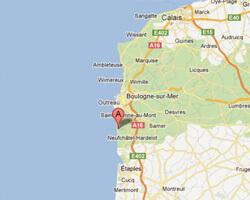 seaside map Hardelot-Plage