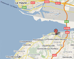 seaside map honfleur