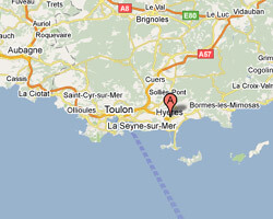 seaside map hyeres