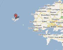 seaside map Ouessant islant (Ushant)