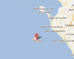 carte littoral Ile d'Yeu