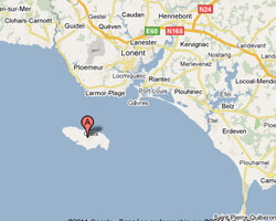 seaside map Groix Island