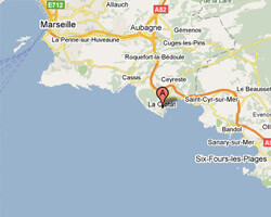 carte littoral La Ciotat