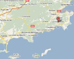 seaside map La Croix-Valmer