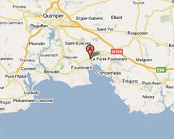 carte littoral la_foret_fouesnant