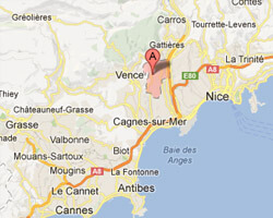 seaside map La Gaude
