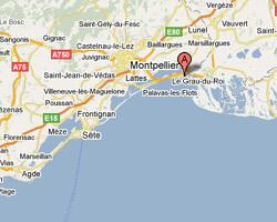 carte littoral La Grande-Motte