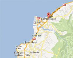 carte littoral La Possession