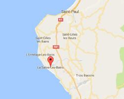 carte littoral La Saline-les-Bains
