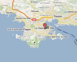 seaside map La Seyne-sur-Mer