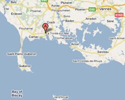 seaside map La Trinité-sur-Mer