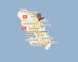 seaside map La Trinité Tartane