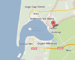 carte littoral lanton
