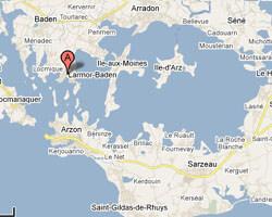 carte littoral larmor_baden