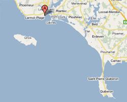 seaside map Larmor-Plage