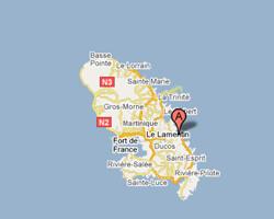carte littoral Le François