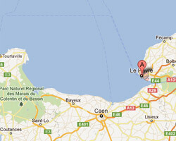 seaside map Le Havre