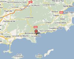 carte littoral Le Lavandou