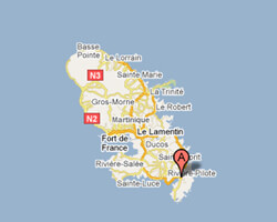 seaside map Le Marin