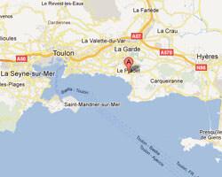seaside map Le Pradet