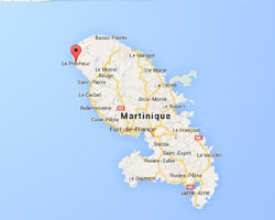 seaside map Le Prêcheur