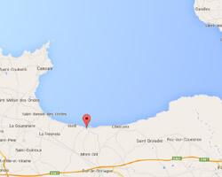 carte littoral Le Vivier-sur-Mer